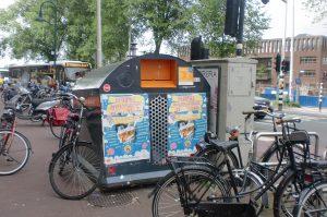 recycling plastic bin amsterdam