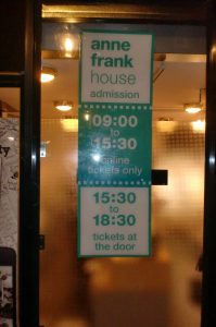 Anne Frank House opening hours
