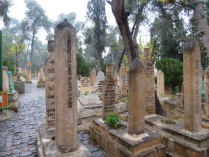 Graves near Abraham's cave
