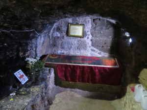 cellar with coffin of Saint Barnabas