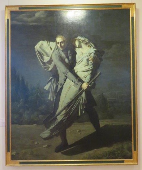 edward young burrying his daughter at night, painting by Pierre Auguste Vafflard