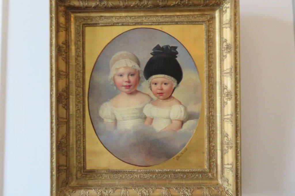 Portrait of Wilhelmine and Henriette van Loon 1826, by A.j. Dubois-Drahonet